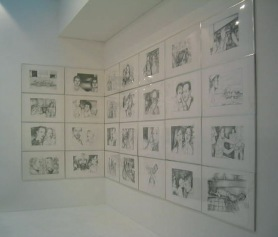 Installation view, Agnes B Gallery, Paris 2003,