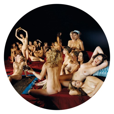Photo Reconstruction of Dominique Ingre's Turkish Bath, 2005 12 x 12 inch, C-Print, Edition of 25